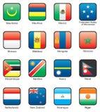 Flag. Icon set (part 8 Royalty Free Stock Image