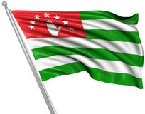 Flag of Abkhazia. This is a computer generated and 3d rendered picture Royalty Free Stock Photo