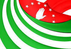 Flag of the Abkhazia Stock Images