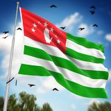 Flag of Abkhazia. This is a computer generated and 3d rendered image Royalty Free Stock Images