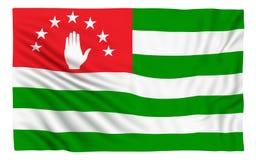 Flag of Abkhazia. Isolated on white Stock Illustration