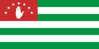 Flag of Abkhazia. Vector illustration. World flag Stock Illustration