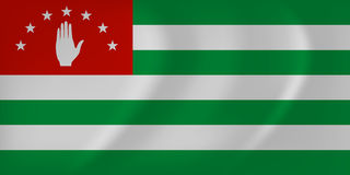 Flag of Abkhazia  illustration. Vector image of the Flag of Abkhazia  illustration Royalty Free Stock Images