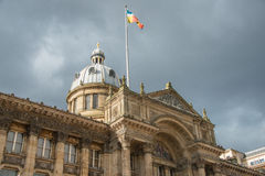A flag above Birmingham museum Stock Photos
