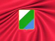 Flag of Abruzzo, Italy. Royalty Free Stock Photos