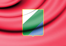 Flag of Abruzzo, Italy. 3d Rendered Flag of Abruzzo, Italy Royalty Free Stock Photos