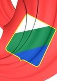Flag of Abruzzo Region, Italy. Royalty Free Stock Photos