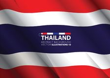 Concept with Thailand flag abstract colors background. image contains transparency. Vector illustration vector illustration