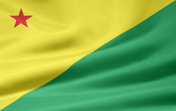 Flag of Acre. The flag symbolizes the brazil state of Acre Royalty Free Stock Photo
