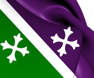Flag of Adjuntas, Puerto Rico. Royalty Free Stock Image