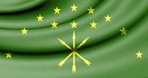 Flag of Adygea, Russia. Royalty Free Stock Photography