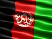 Flag of Afghanistan Stock Image