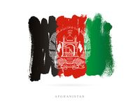 Flag of Afghanistan. Abstract concept Royalty Free Stock Images