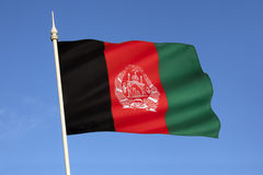 Flag of Afghanistan - Central Asia Stock Images
