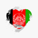 Flag of Afghanistan. On grunge heart. Vector illustration Stock Illustration