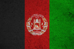 Flag. Afghanistan flag on an old grunge background Royalty Free Stock Photography