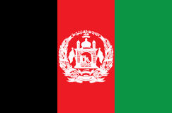 Flag of Afghanistan. Vector. Accurate dimensions, Royalty Free Stock Photography