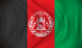 Flag of Afghanistan Stock Photography
