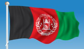 Flag of Afghanistan. Vector illustration Royalty Free Stock Image
