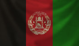 Flag of Afghanistan. Vintage background with flag of Afghanistan. Grunge style Stock Photography