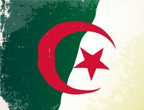 Algeria Flag Grunge. The flag of the African country of Algeria Royalty Free Stock Photos