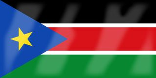 South Sudan Flag. The flag of the African country South Sudan Stock Photos