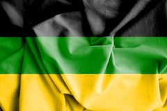 Flag of African National Congress. 3d Rendered Flag of African National Congress stock illustration