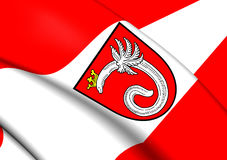Flag of Ahlen, Germany. Close Up Royalty Free Stock Photography
