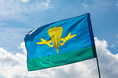Flag of the Airborne troops of Russia. Royalty Free Stock Photos