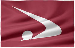 Flag of Akita - Japan royalty free stock photography