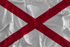 Flag of Alabama Background, Heart of Dixie. The Cotton State, The Yellowhammer State Royalty Free Stock Photography