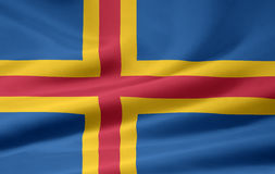 Flag of Aland Stock Photos