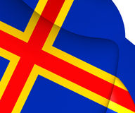 Flag of Aland, Finland. Royalty Free Stock Photography