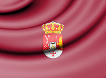 Flag of Albacete Province, Spain. Royalty Free Stock Photography