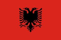 Flag of Albania Stock Photography