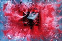 Flag of Albania Stock Photos