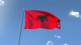 Flag of Albania stock video footage