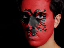 Flag of Albania Royalty Free Stock Photography
