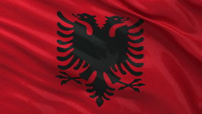 Flag of Albania seamless loop Stock Images