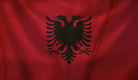 Flag of Albania. Vintage background with flag of Albania. Grunge style vector illustration