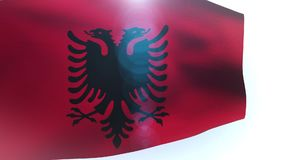 Flag of Albania wave waving wind. Video stock video footage