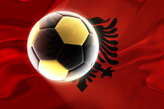 Flag of Albania,  wavy soccer Stock Image