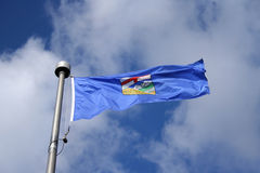 Flag of Alberta stock images