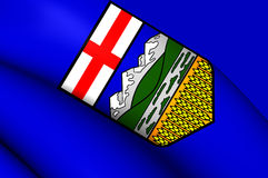Flag of Alberta, Canada. Royalty Free Stock Photos