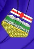 Flag of Alberta, Canada. Stock Photography