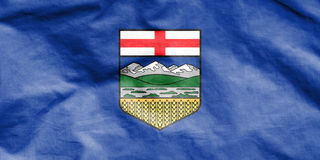 Flag of Alberta, Canada. Royalty Free Stock Image