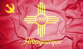 +++Flag_of_Albuquerque, _New_Mexico 免版税图库摄影