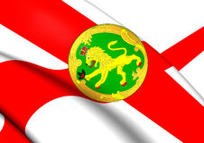 Flag of Alderney Royalty Free Stock Image