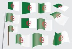 Flag of Algeria. Set of flags of Algeria vector illustration Royalty Free Stock Photo