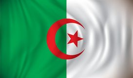 Flag of Algeria. Vector illustration Stock Images